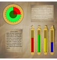 infographics on paper background vector image