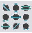 Set of retro badges and labels with ribbons vector image