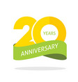 20 years anniversary celebrating logo icon vector image vector image
