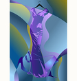 abstract couture dress vector image vector image