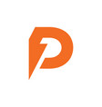 Abstract letter d p thunder energy logo