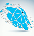 Abstract low poly wrecked asymmetric object with vector image vector image