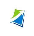 arrow business finance logo vector image