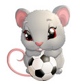 beautiful cute mouse vector image vector image