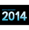 Blue shade new year 2014 vector image