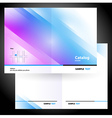booklet folder brochure colorful design gradient vector image vector image