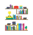 cartoon color case box with books vector image