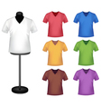 colored shirts vector image vector image