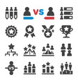competition icon set vector image