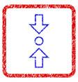 compress vertical grunge framed icon vector image vector image