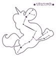 constellation unicorn print vector image vector image