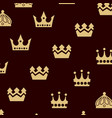 crown logo design vector image vector image