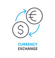 currency exchange concept outline icon linear vector image vector image