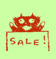 cute fur sale cat vector image