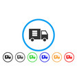 data transfer van rounded icon vector image vector image