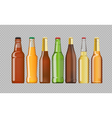 Digital beer mockup set vector image vector image