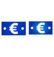 euro bill icon vector image vector image