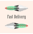 fast delivery concept with rockets vector image