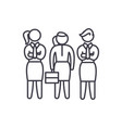 female employees line icon concept female vector image vector image