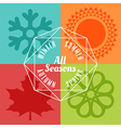 four seasons icon symbol vector image vector image