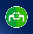 gauge industrial valve icon button logo symbol vector image