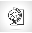 Globe simple line icon vector image