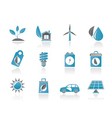 green and environment icons vector image vector image