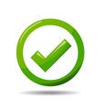 Green check mark symbol vector image vector image