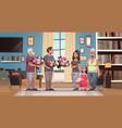happy multi generation family congratulating women vector image