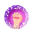 happy womens day fist raised up we can do it vector image vector image