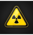 hazard radioactive sign vector image vector image