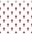 Hockey helmet pattern cartoon style vector image vector image