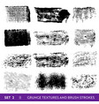 ink brush strokes grunge paint splatters vector image