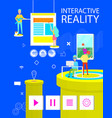 interactive reality poster of virtual application vector image vector image