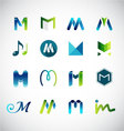 Logo design based on letter M vector image vector image