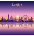 London silhouette on sunset background vector image vector image