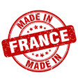 made in france red grunge round stamp vector image vector image