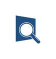 magnifying glass searching logo icon graphic vector image vector image