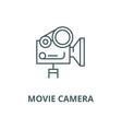 movie camera line icon linear concept vector image vector image