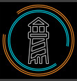 navigation sea tower icon - lighthouse vector image
