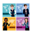 news and jounalism cards vector image vector image