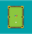 pool table with balls vector image