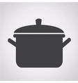 pot icon vector image vector image