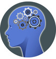psychology mind gear vector image