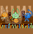 rock concert music band cartoon monsters vector image