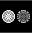 roulette icon set white color flat style simple vector image