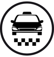 round taxi sign vector image vector image