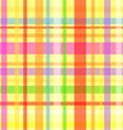 Seamless plaid pattern-yellow vector image vector image