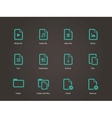 Set of Files icons vector image vector image