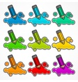 Set of pencils and color vector image